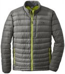 Outdoor Research Transcendent Down Sweater pewter/lemongrass/M