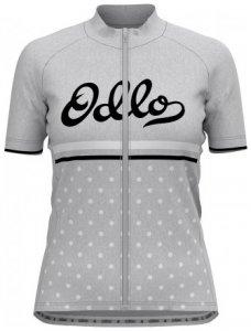 Damen T-Shirt Full Zip Stand-Up Collar Fujin Print , Odlo , S