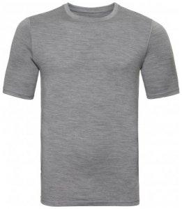 Herren Shirt s/s crew neck Natural MERINO WARM , Odlo , L