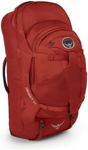Osprey Farpoint 55 - Reiserucksack mit abnehmbarem Daypack - jasper red- Gr.M/L - 55 Liter