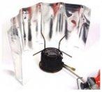 Basic Nature Alu Windschutz für Kocher - Rollbar 18x50cm - rollbar - 18 x 50 cm