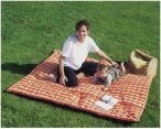 Amazonas Picknickdecke Molly 175x135cm - Outdoordecke - orange - 175x135cm