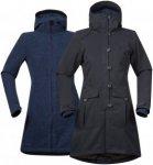 Bergans Bjerke 3in1 Lady Coat - Mantel / Doppeljacke - charcoal grey/night blue