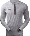 Bergans Henley Wool Shirt Men - Shirt aus Merinowolle - grey melange - Gr.L