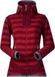 Bergans Hollvin Wool Lady Jacket - Woll Fleecejacke - burgundy/red stiped - Gr.M