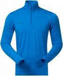 Bergans Soleie Half Zip Long Shirt - 150er Merinowolle - athens light blue - Gr.