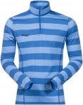 Bergans Soleie Half Zip Long Shirt - 150er Merinowolle - mid blue/blue striped -