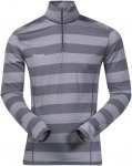 Bergans Soleie Half Zip Long Shirt - 150er Merinowolle - solid dark grey/striped