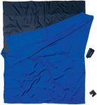 Cocoon Seidenschlafsack Travel Sheet Double Size - Silk natural - tuareg blue/bl