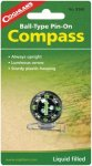 Coghlans Pin-On Kompass mit Anstecknadel - Kugelkompass - Pin-On Kompass