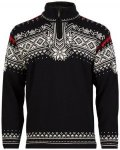 Dale of Norway Anniversary Sweater Men - Strickpullover - black/white/red - Gr.L