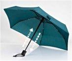 EuroSchirm Regenschirm Dainty Automatic - Schirm mit Auf-/Zu-Automatik - grün
