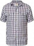 Fjällräven Abisko Cool Short Shirt Men - Reisehemd - bluebird blau/rot - Gr.L