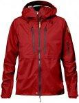Fjällräven Keb Eco Shell Jacket Women - Regenjacke - lava red/grey 335 - Gr.S