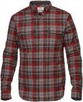 Fjällräven Singi Heavy Flannel Shirt Men - Baumwoll Flannelhemd - dark grey 03