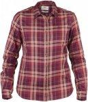 Fjällräven Övik Flanell Shirt Women - Outdoorbluse - dark garnet violett 356