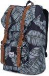 Herschel Little America Backpacks 17L - Freizeit Rucksack - black/palm design