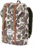 Herschel Retreat Backpacks 19L - Daypack - frog camo green/tan synthetic leather
