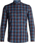Icebreaker Departure Longsleeve Shirt Men - Outdoorhemd - midnight navy blue - G