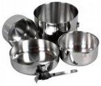Kochgeschirr Biwak Edelstahl 3 - Kochset für 4 Personen - Biwak Edelstahl 3 Set