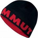 Mammut Logo Beanie - Wendemütze - black/inferno red 0575