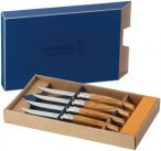 Opinel Steak- Tafelmesser Olivenholz - 4er Set - Olivenholz - 4er Set