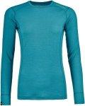 Ortovox 145 Ultra Long Sleeve Shirt Women - Merino Unterwäsche - aqua blue - Gr