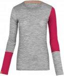Ortovox 185 Rock'n Wool Long Sleeve Shirt Women - Longsleeve - grey blend - Gr.S