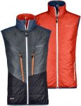 Ortovox Swisswool Piz Cartas Vest Men - Thermo Wendeweste - crazy orange/grey -