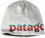 Patagonia Hat Beanie - Fleecemütze - logo belwe mini: birch white