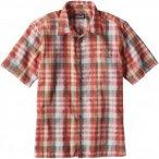 Patagonia Puckerware Shirt Men - Slim Fit Freizeithemd - birch white orange - Gr