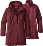 Patagonia Vosque 3 in 1 Parka Women - Doppelmantel - dark ruby red - Gr.M
