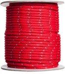 Reflektierende Seile / Zeltleine auf 30 Meterrollen - 3mm - rot - 30 Meter
