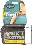 Sea To Summit Silk/Cotton Liner Traveller - Seiden-/Baumwollschlafsack - navy bl