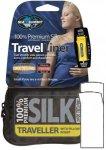 Sea To Summit Silk Stretch Liner Traveller mit Kapuze - Seiden Schlafsack - navy