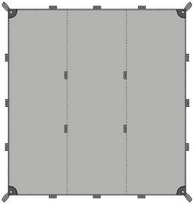 Tatonka Tarp 1 Simple - 425x445cm - Zeltplane - 425x445cm - grün