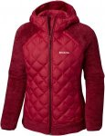 Columbia Techy Hybrid Fleece Jacket Kapuzenjacke Damen bordeaux Gr. S