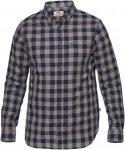 Fjällräven Övik Check Shirt LS M Langarmhemd Herren blau Gr. S