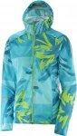 Salomon Lighning Wind Graphic Hoodie W Laufjacke Damen blau Gr. L