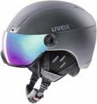 Uvex hlmt 400 visor style Skihelm dunkelgrau Gr. 53-58cm