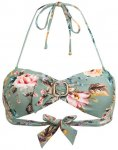 Watercult Bandeau-Bikini-Top Boho Blossom gruen