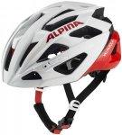 Alpina Valparola Helm weiß/rot 51-56cm 2021 Fahrradhelme, Gr. 51-56cm