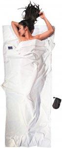 Cocoon Inlett Ägyptische Baumwolle - Schlafsack Inlett - Gr. 220x90cm - natur / weiß