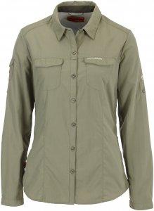 Craghoppers NosiLife Adventure L/S Shirt Frauen Gr. 12 - Outdoor Bluse - oliv-dunkelgrün
