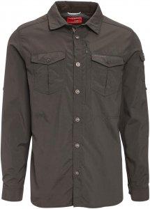 Craghoppers NosiLife Adventure L/S Shirt Männer Gr. L - Outdoor Hemd - schwarz|grau