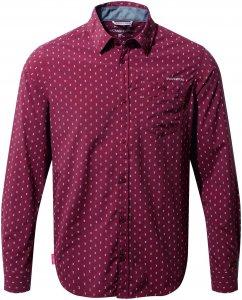 Craghoppers NosiLife Todd L/S Shirt Männer Gr. S - Mückenschutz Kleidung - rotbraun