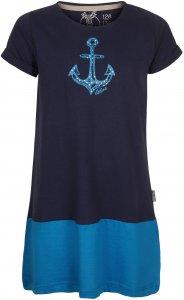 Elkline Farbenfroh Kinder Gr. 116/122 - Kleid - blau