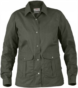 Fjällräven Greenland Shirt Jacket Frauen Gr. L - Übergangsjacke - oliv-dunkelgrün