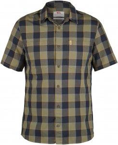 Fjällräven High Coast Big Check Shirt SS Männer Gr. S - Funktionshemden - oliv-dunkelgrün|braun