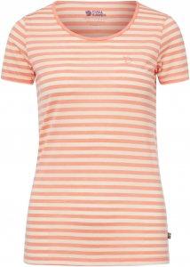 Fjällräven High Coast Stripe T-S Frauen Gr. M - Funktionsshirt - pink-rosa beige-sand